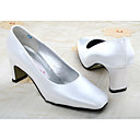 Top Quality Satin upper Medium Heel Pumps Closed-toes  with  Wedding Bridal Shoes (MF-003) .More Colors Aailable