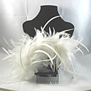 Women's/Flower Girl's Alloy/Feather Headpiece - Wedding/Special Occasion/Casual/Outdoor Hair Combs