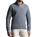 Men's Design Button Closure Cashmere Pullover