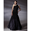 TS Couture Prom / Formal Evening Dress - Black Plus Sizes / Petite Trumpet/Mermaid One Shoulder Floor-length Taffeta