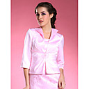 3/4-length Satin Special Occasion Evening Jacket/ Wedding Wrap Bolero Shrug