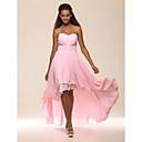 TS Couture Prom / Formal Evening Dress - Blushing Pink Plus Sizes / Petite A-line / Princess Strapless / Sweetheart Floor-length / Asymmetrical