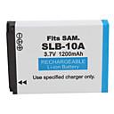 1200mAh camera batterij SLB-10A voor Samsung L310W en nog veel meer