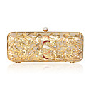 Stainless Steel With Rhinestone Evening Handbags/ Clutches More Colors Available