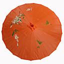 oranje zijden parasol