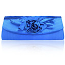 Handbags/ Clutches In Gorgeous Shining Satin Shell With Applique More Colors Available