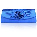 håndtasker / koblinger i smukke skinnende satin shell med applikerede flere farver