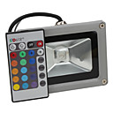 10 W 1 Integrate LED LM RGB/Color-Changing Remote-Controlled Flood Lights AC 85-265 V