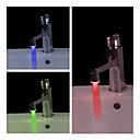 Stijlvolle, wateraangedreven LED-badkamerkraanverlichting (kunststof, chroom afwerking)