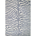Wool Tufted Area Rugs with Silver Gray Stripe Pattern 3'*5'