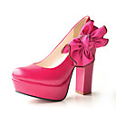 Leatherette Chunky Heel Platforms With Flower For Party/Evening (More Colors)