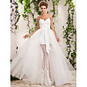 A-line/Princess Plus Sizes Wedding Dress - Ivory Floor-length Sweetheart Tulle