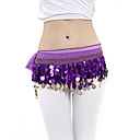 Dancewear Chiffon With 88 Copper Coins Belly Dance Hip Scarf for Ladies More Colors