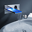 Sprinkle® by Lightinthebox - Color Changing LED Waterfall Bathroom Sink Faucet (Wall Mount)