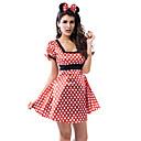 sexet mus pige røde prikker kvinders Halloween kostume (2 stk)
