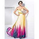 Prom/Formal Evening Dress - Print Plus Sizes Sheath/Column Sweetheart/Strapless Floor-length Chiffon