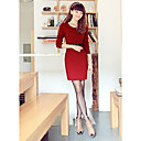 Women's Slim Solid Color Dress
