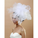 Women's Feather/Tulle Headpiece - Wedding/Special Occasion Fascinators