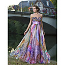 TS Couture® Prom / Formal Evening Dress - Print Plus Sizes / Petite Sheath/Column Sweetheart / Strapless Floor-length Chiffon