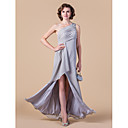 Sheath/Column Plus Sizes / Petite Mother of the Bride Dress - Silver Floor-length Sleeveless Chiffon