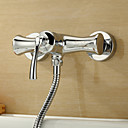 Sprinkle® by Lightinthebox - Chrome Finish Centerset Wall Mount Single Handle Brass Shower Faucet
