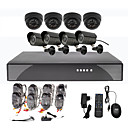 8CH CCTV DVR Kit For Home Security (4 ulkoilu-ja 4 Indoor vesitiivis kamera)