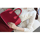 Women's PU Leather Contrast Color Vintage Tote/Crossbody Bag