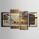 Hand-painted Oil Painting Abstract Set of 4 1211-LS0023