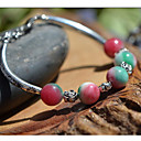 Women's Apple Color Balls Silver Bracelet