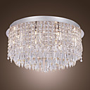 SL®  Crystal Flush Mount with 15 Lights in Round (G4 Bulb Base)