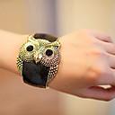 Women's Vintage Owl Wide Bracelet