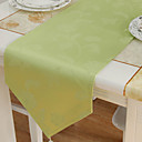 Vert Polyester Rectangulaire Chemins de table