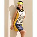 TS Contrast Color Print Sleeveless Dress