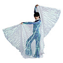 Ydelse Transparent Polyester Belly Dance Wing For Ladies flere farver