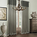TWOPAGES® One Panel  Classic Bamboo Fiber Faux Room Darkening Curtain