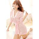 vrouwen zijdeachtige roze / zwart / wit / paars half sleeve gewaden