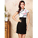 Women's Vintage / Casual / Party / Work Floral / Lace Dress , Stand Mini Polyester