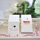 décoration de mariage cartons d'allumettes personnalisés - double coeurs (jeu de 50)