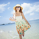 Women's Casual / Beach / Print Dress Above Knee Chiffon
