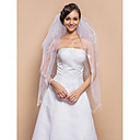 Three-tier Fingertip Veil With Ribbon Edge(More Colors)