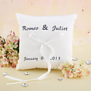 Personalizzato Elegante Wedding Ring Pillow Con Nastro