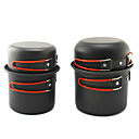 Hard Alumina Black Camping Pot (2PCS Bowl)
