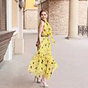 Collier de stand Star Print maxis robes en mousseline de soie des femmes
