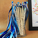 Royal Blue Wedding Ribbon Wand--(Set of 10) Peacock Wedding