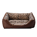 Cozy Warm Leopard Prints Sofa Style Bed for Pets Dogs