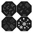 1PCS Nail Art Stamp Stamping Image Template Plate QA Series NO.2(Assorted Colors)