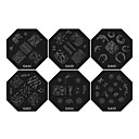 1PCS Nail Art Stamp Stamping Image Template Plate QA Series NO.1(Assorted Colors)