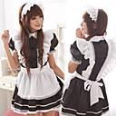 Cute Girl noir et blanc hérisse tablier ménage uniforme