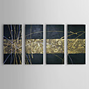 Hand-painted Oil Painting Abstract Figure with Stretched Frame Set of 4 1311-AB1138