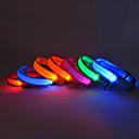 justerbar nylon sikkerhed stribet krave med LED lys for kæledyr hunde (assorterede farver, størrelser)